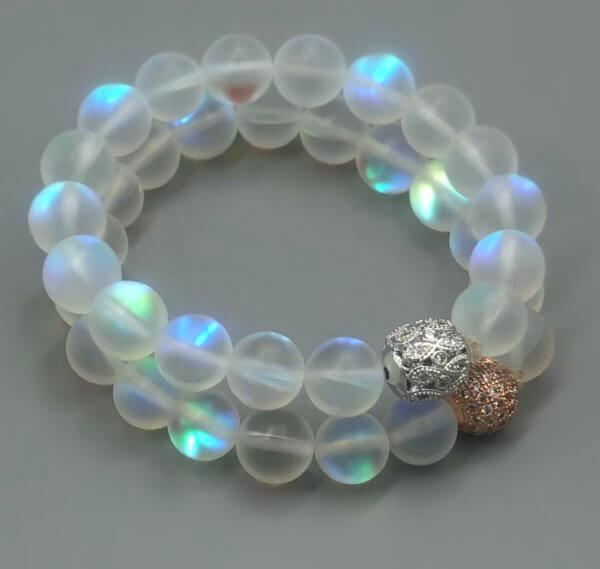Large Rainbow Opalite Bracelet by MK Designs