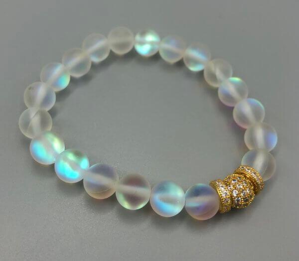 Medium Gold Rainbow Opalite Bracelet by MK Designs