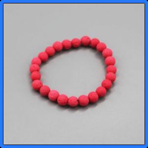 Coral Lava Bead Bracelet