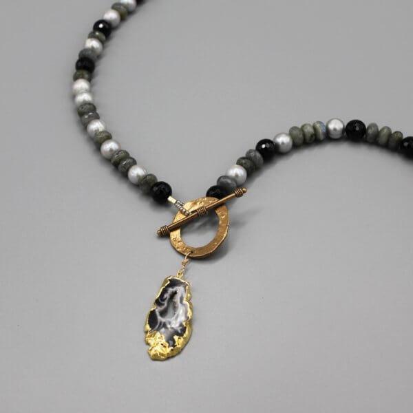 Gemstone Druzy Necklace