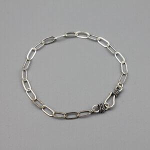Sterling Paper Clip Bracelet