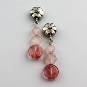 Floral Pink Earrings