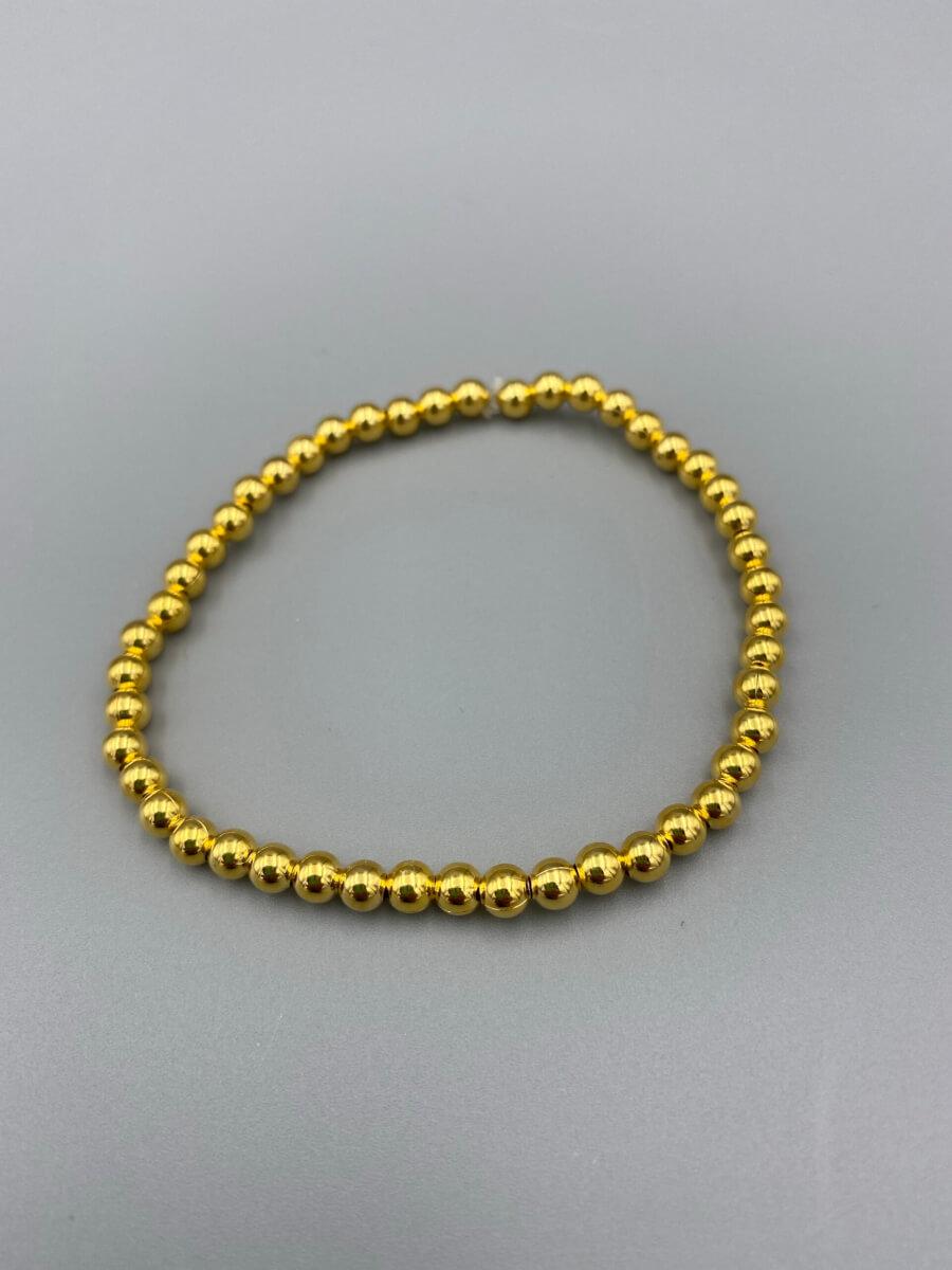 Gold Bead Bracelet by MK Designs