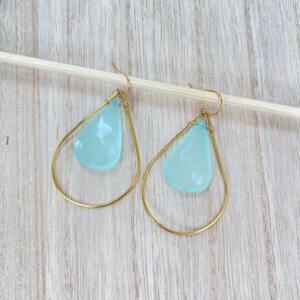 Blue Teardrop Earrings by MK Designs