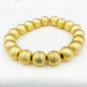 Annabelle Large Gold Bead Bracelet by MK Designs