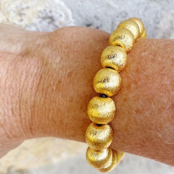 Annabelle Large Gold Bead Bracelet